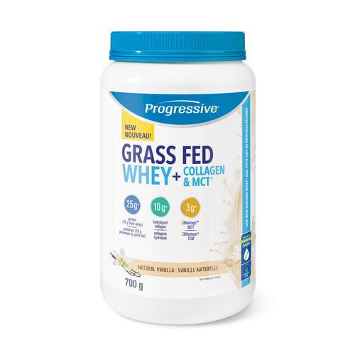 Progressive Grass Fed Whey + Collagen & MCT Natural Vanilla 700 grams