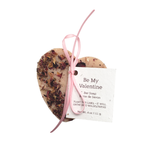 Soak Bath Co.   Be My Valentine Bar Soap Heart Shaped