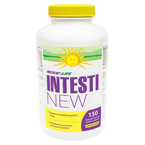 Renew Life IntestiNEW repair a leaky gut, create healthy intestinal lining.  150 vegetable capsules.