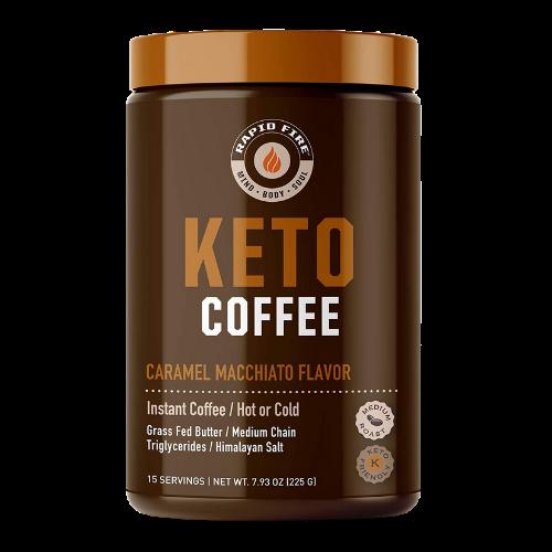 Rapid Fire KETO Coffee Caramel Macchiato Flavour 225 grams