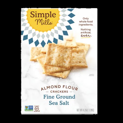 Simple Mills Almond Flour Crackers Fine Ground Sea Salt 482 grams