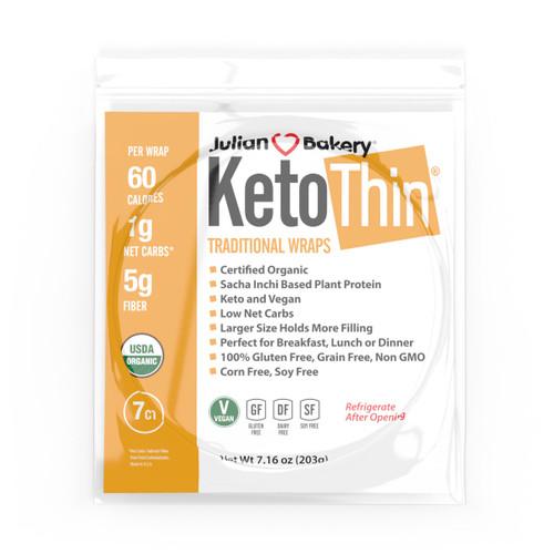 Julian Bakery Keto Thin Traditional Wraps 203 grams