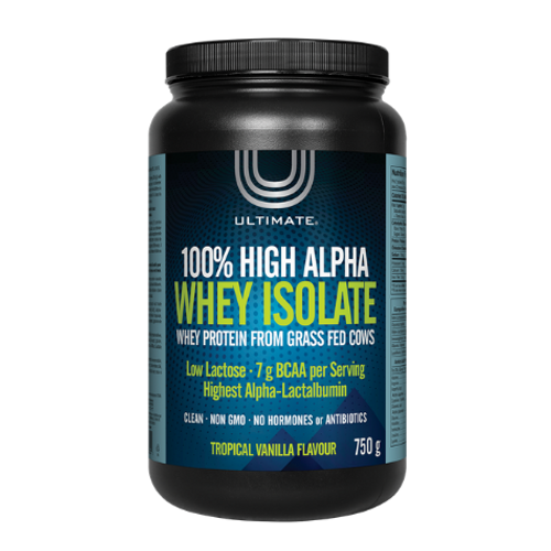 Ultimate - 100% High Alpha Whey Isolate Tropical Vanilla Flavour 750 grams
