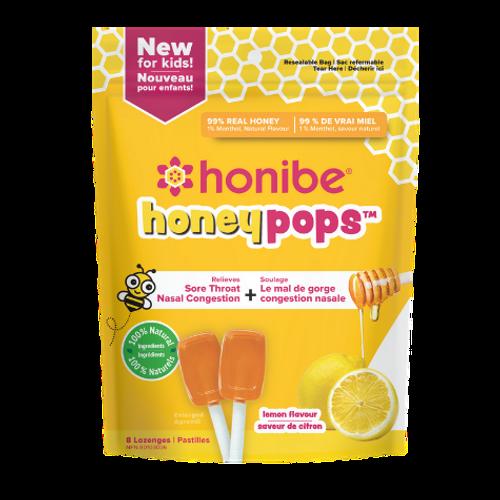 Honibe - Lemon Flavour Honeypops 8 lozenges