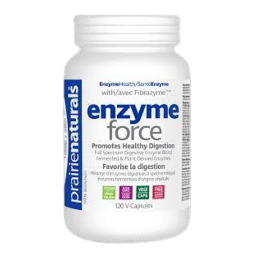 Prairie Naturals Enzyme Force Healthy Digestion 120 vcapsules