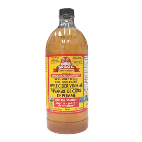 Bragg Organic Raw Unfiltered Apple Cider Vinegar Plastic Bottle 946 ml