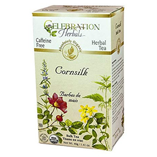 Celebration Herbals Cornsilk organic herbal tea.  24 tea bags.
