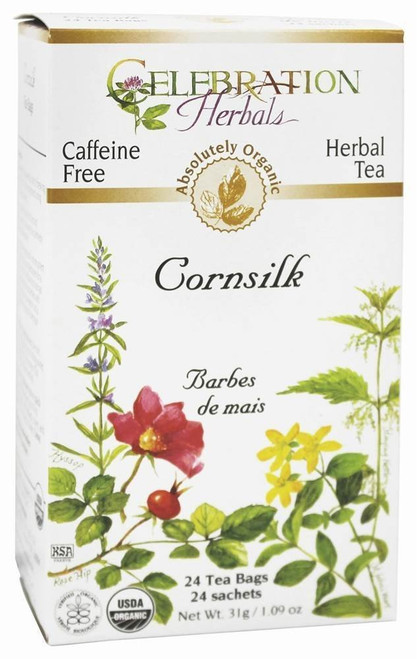 Celebration Herbals Cornsilk Organic Herbal Tea 31 grams, 24 Tea Bags