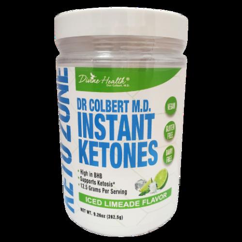 Divine Health Dr. Colbert - Instant Ketones Iced Limeade Flavor Keto Zone