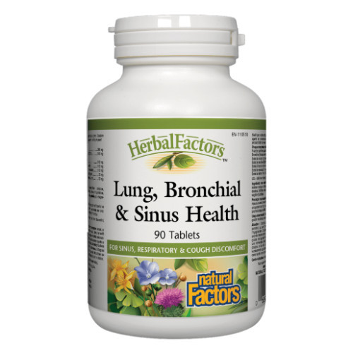 Natural Factors Lung, Bronchial and Sinus Health 90 tabs.