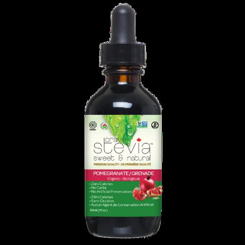 Crave Stevia - Sweet & Natural Organic Pomegranate Liquid Drops30ml