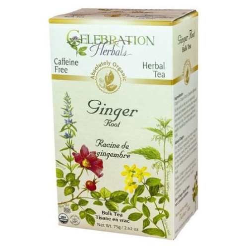 Celebration Herbals Ginger Root herbal tea.