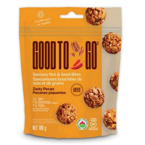 Good to Go - Zesty Pecan Savoury Nut & Seed Bites 100 grams
