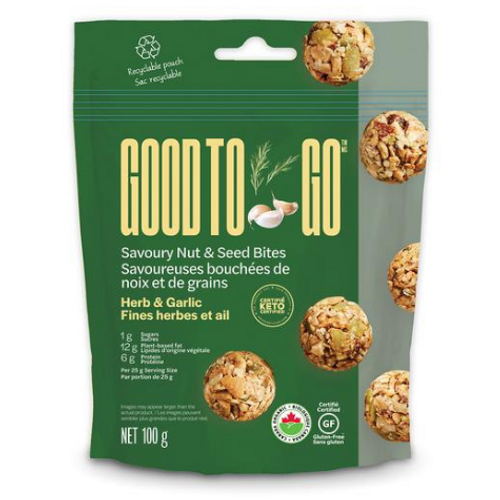 Good to Go - Herb & Garlic Savoury Nut & Seed Bites