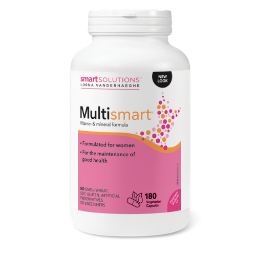 Lorna Vanderhaeghe Multismart Vitamin and Mineral Supplement for women 180 vegetarian capsules