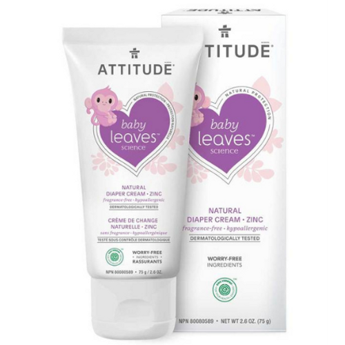 Attitude - Baby Leaves Science Fragrance Free Natural Diaper Cream with Zinc
