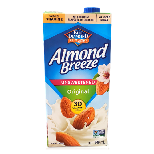 Blue Diamond Almonds - Almond Breeze Unsweetened Original Almond Beverage