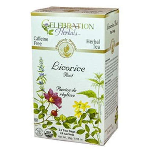 Celebration Herbals Licorice Root herbal tea.  24 tea bags.