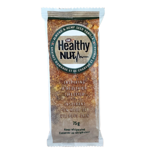 The Healthy Nut - Almond & Hemp Seed Vanilla Healthy-Nut Bar Package