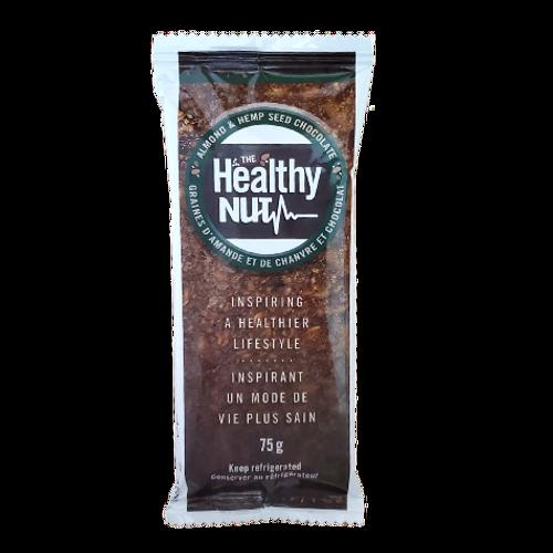 The Healthy Nut - Almond & Hemp Seed Chocolate Healthy-Nut Bar Package