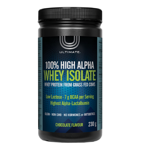 Ultimate Chocolate Flavoured 100% High Alpha Whey Isolate Protein 230 grams