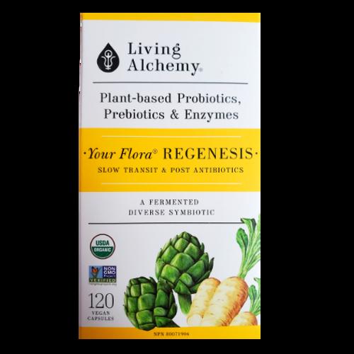 Living Alchemy Your Flora Regenesis Plant-Based Probiotics, Prebiotics & Enzymes120 vcaps