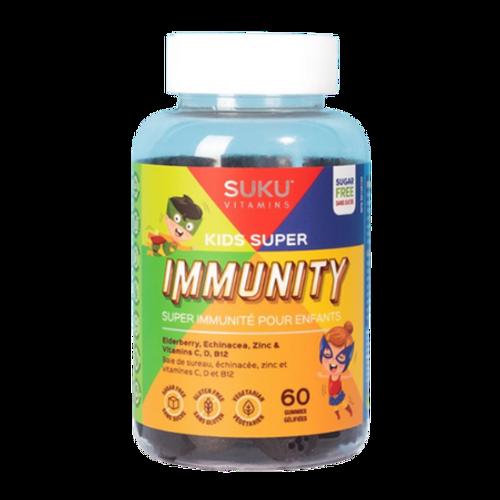 SUKU Vitamins Kids Super Pomegranate Lime Flavoured Immunity Gummies