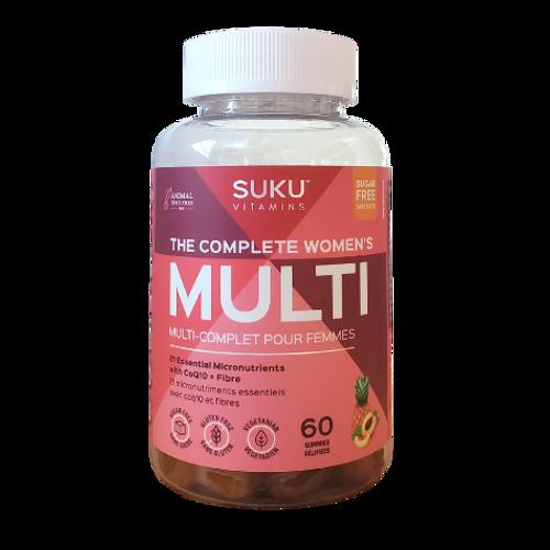 SUKU Vitamins - The Complete Women's Peach & Pineapple Flavoured Multi Gummies New Look
