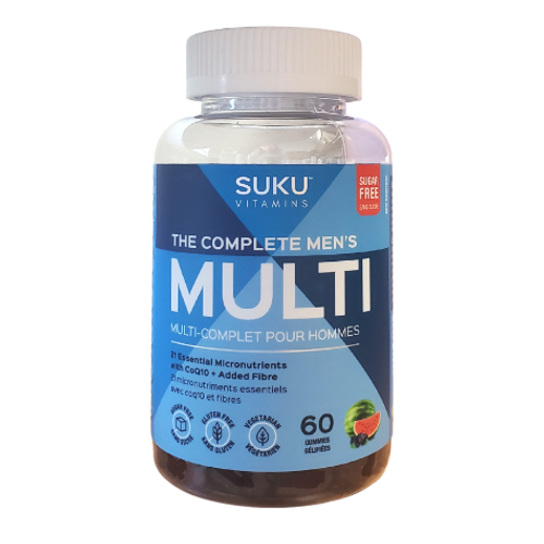 SUKU Vitamins - The Complete Men's Mixed Fruit Fusion Flavoured Multi Gummies New Look