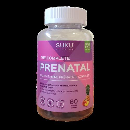 SUKU Vitamins - The Complete Pineapple & Peach Flavoured Prenatal Gummies New Look