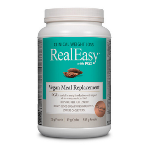 Natural Factors  RealEasy with PGX Chocolate Flavoured Vegan Meal Replacement 855 grams