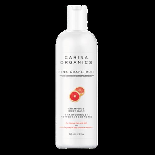 Carina Organics Pink Grapefruit Shampoo & Body Wash 360ml