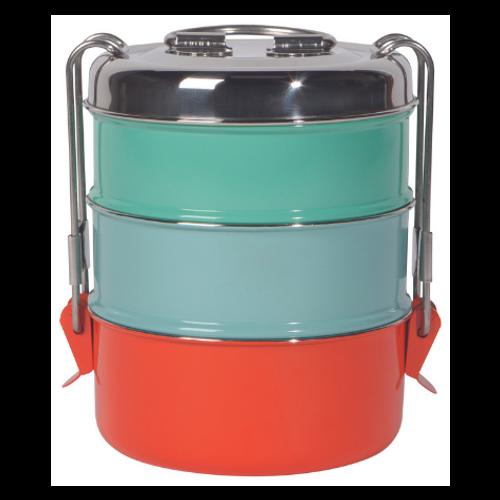 Danica Heirloom Splendor Stainless Steel 3-Tier Tiffin Food Container