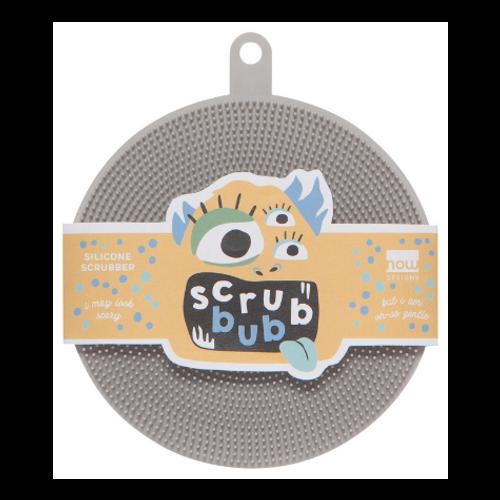 NOW Designs by Danica  Fog Scrub Bub Silicone Scrubber - package