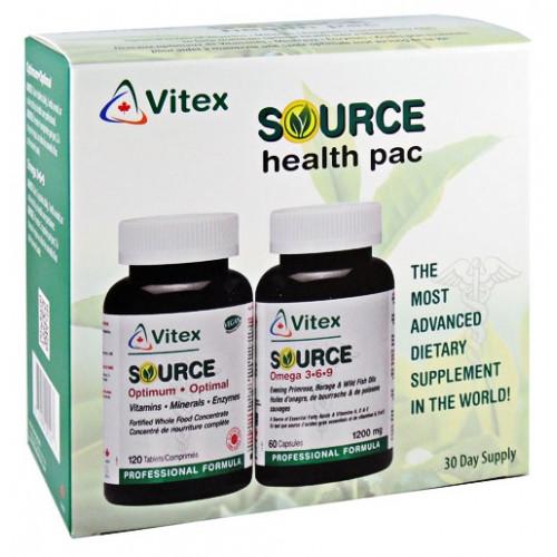 Vitex Source Health Pac Optimum Omega 3-6-9 30 Day Supply Vegan