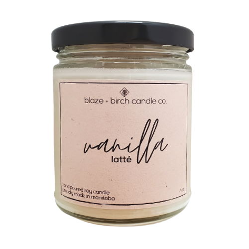 Blaze + Birch Candle Co. Vanilla Latte Hand Poured Soy Candle