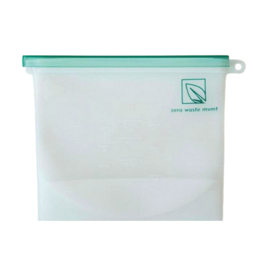 Zero Waste Mvmt - 1000 mL Reusable Silicone Food Bag