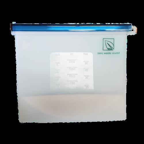 Zero Waste Mvmt - 1500 mL Reusable Silicone Food Bag