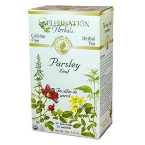 Celebration Herbals Parsley Leaf organic herbal tea.