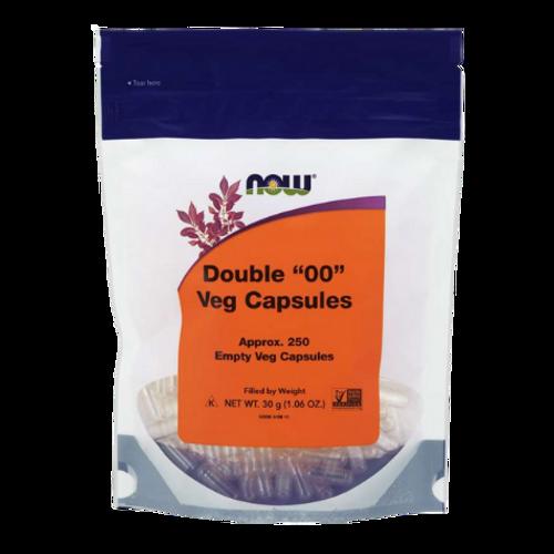 """NOW - Empty Double """"00"""" Veg Capsules"""