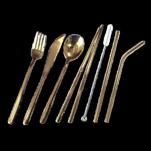 IREUSE2 Crisp Champagne Adult Cutlery Set