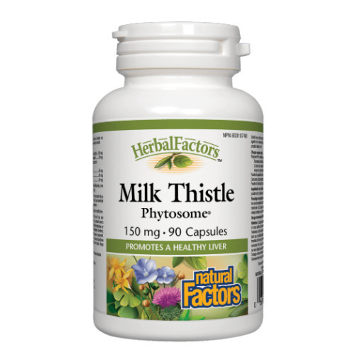 Natural Factors Milk Thistle phytosome for liver health. 90 caps.