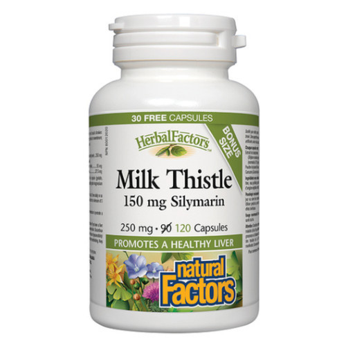 Natural Factors Milk Thistle Silymarin Bonus 120 capsules