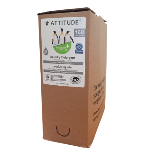 Attitude - Eco-Refill Fragrance-Free Laundry Detergent with Advanced Deodorizing Power