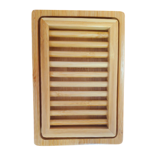 Plantish Dual-Layer Bamboo Soap Dish