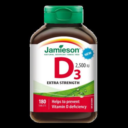 Jamieson Extra Strength D3 2,500 IU 180 tablets