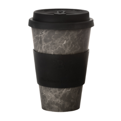 The Future is Bamboo Onyx Marble Bamboo Fiber Cup