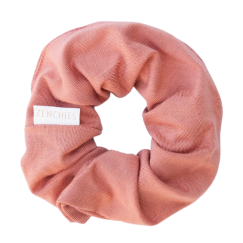 Zenchies Classic Coral Clay Hair Scrunchie