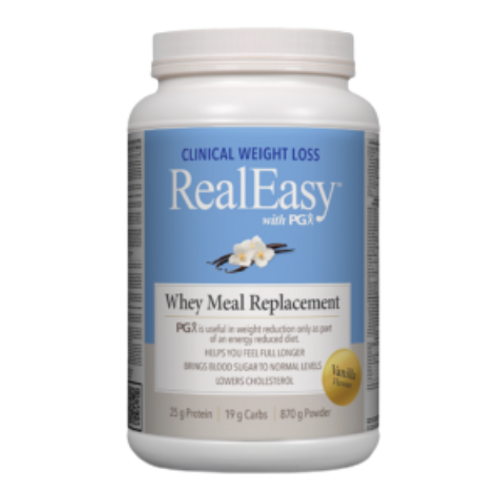 Natural Factors RealEasy with PGX Vanilla Flavoured Whey Meal Replacement