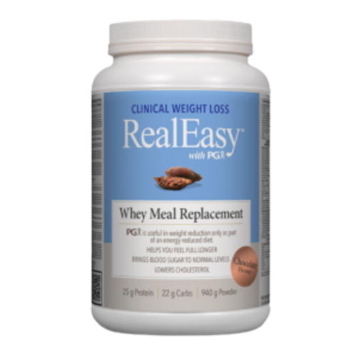 Natural Factors RealEasy with PGX Chocolate Flavoured Whey Meal Replacement